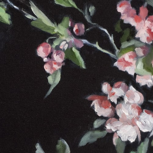 Paintings by Justine Hutchison seen at Private Residence, Melbourne - Crabapple blossom