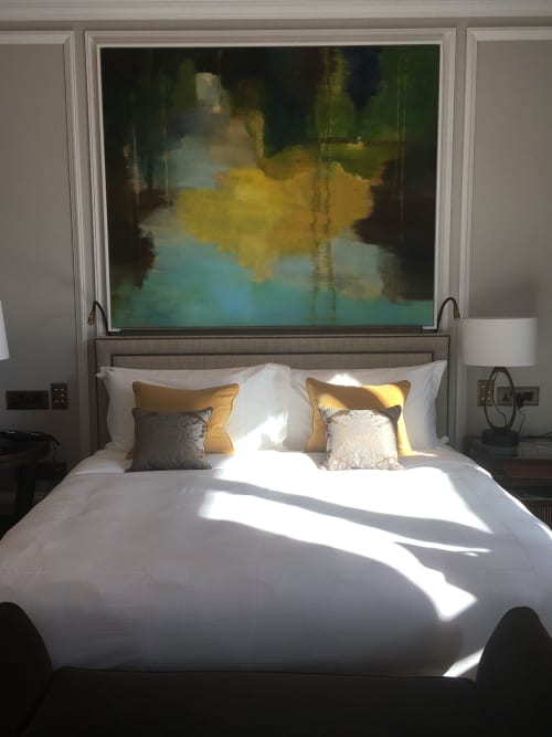Paintings by Jane Kell seen at Belmond Cadogan Hotel, London - Commissioned Abstract Painting  by Jane Kell