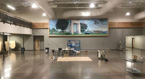 Murals by John O. Wehrle seen at Blaine Senior High School, Blaine - John O Wehrle