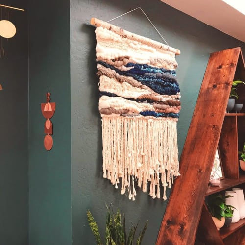 Macrame Wall Hanging by TexturizeYourEyes by Amber Kokenge seen at Botanic and Luxe, Santa Cruz - Agate Inspired Blues Macrame