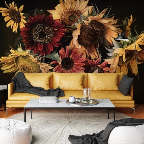 "Murals by Thomas Darnell seen at Sainte-Valière, Sainte-Valière - ""Sunflowers"" Mural"