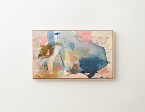 """Paintings by maja dlugolecki - 'pink lemonade', 36"""" x 60"""""""