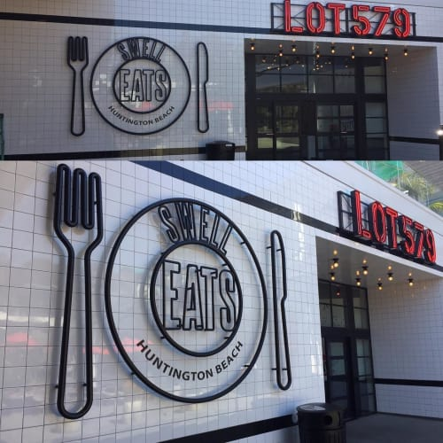 Signage by Look Signs by Chris McNeil seen at Lot 579, Huntington Beach - Custom Steel Art