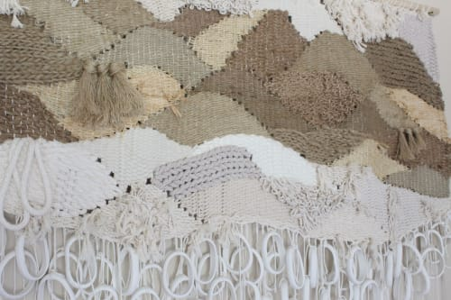 Interior Design by Emily Barton Design seen at Provision, Hartwell - Weaving with Natural Fibers and Plaster Sculptural pieces