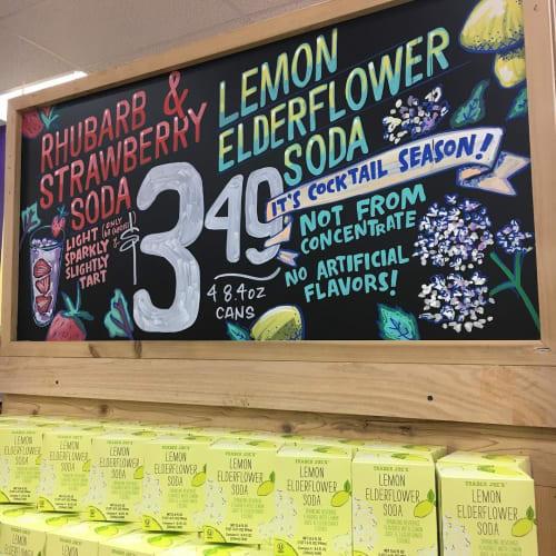 Signage by Ello Artist seen at Trader Joe's, Baton Rouge - Chalkboard Signage