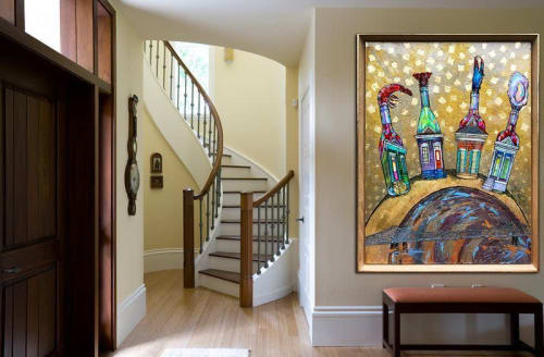"""Paintings by Art by Christy Gallery seen at Private Residence, New Orleans - """"Housewines on the Horizon"""" Painting"""