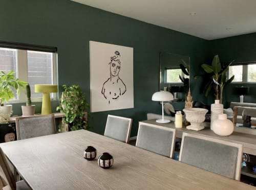 Paintings by Anna Michele Art seen at Private Residence, Beverly Hills - Bust of Aphrodite