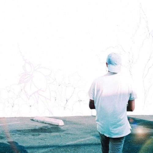Street Murals by Irubiel Moreno seen at 1331 T St, Sacramento - 'Lavender Heights'