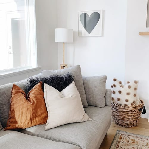 Pillows by Hecho seen at Melissa Coulter's Home, Courtenay - Wool Pompom Cushion