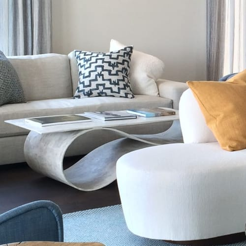 Tables by Neal Aronowitz seen at Private Residence, East Hampton - Whorl Coffee Table