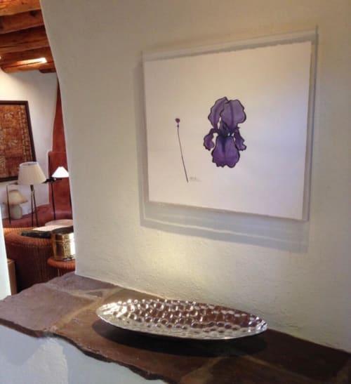 Paintings by Steve McElroy seen at Private Residence, Santa Fe - Iris Drawing