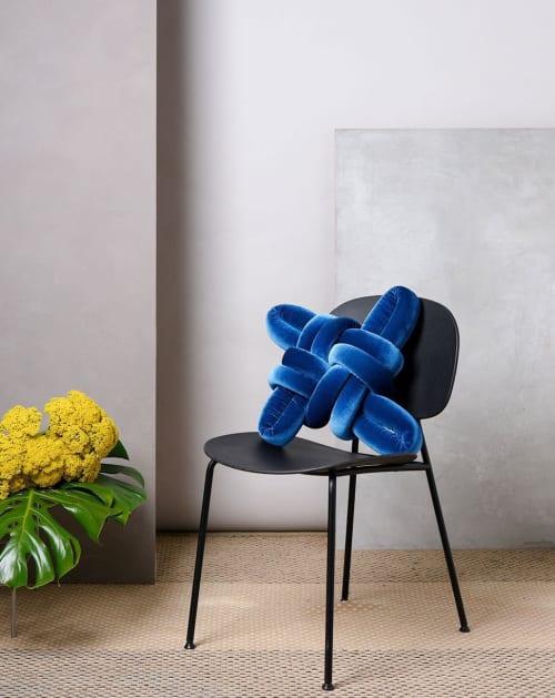 Pillows by Knots Studio seen at Creator's Studio, Tel Aviv-Yafo - Royal Blue Velvet Knot Pillow