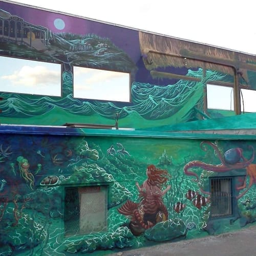 Murals by Kelly Wright Art seen at Castles and Cottages, Kamloops - Underwater Mural