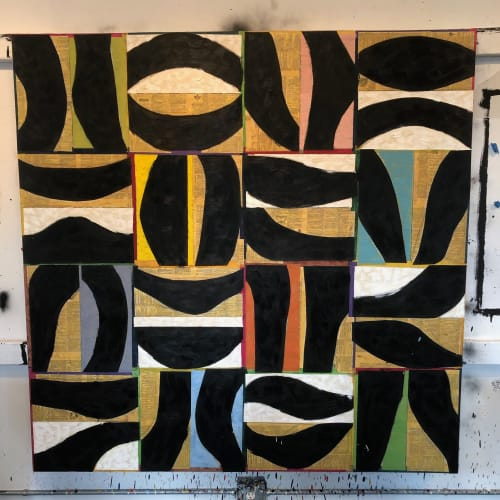 "Paintings by Brad Ellis - Artist at Private Residence, Austin - Painting: ""Currents"""