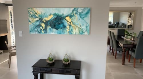 Paintings by Virginia Clarke (VIRGLO) seen at Private Residence, Cape Town - Fountain of Life 2