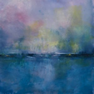 Paintings by Amy Bernhardt seen at Private Residence, Stonington - Abstract Landscapes, Mid-Coast Interior