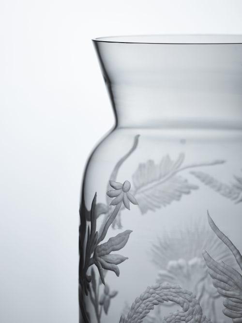Vases & Vessels by Eliška Monsportová seen at Creator's Studio, Prague - Floral engraved vase