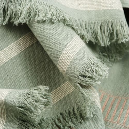 Linens & Bedding by Studio Variously seen at Creator's Studio, Bloomfield Hills - Sage Throw
