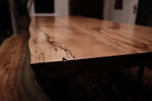 Tables by Growler Domestics seen at Carson Creek Ranch, Austin - Havard Live Edge Dining Table