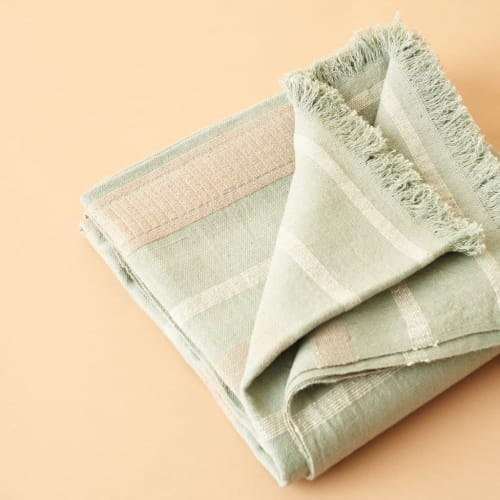 Linens & Bedding by Studio Variously seen at Private Residence, Bloomfield Hills - Sage Throw