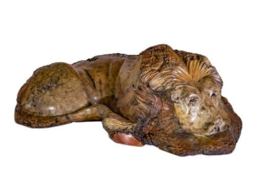 Sculptures by Christina Stafford of Stafford Gallery seen at Stafford Gallery, Healdsburg - Golden Boy by Leo E. Osborne