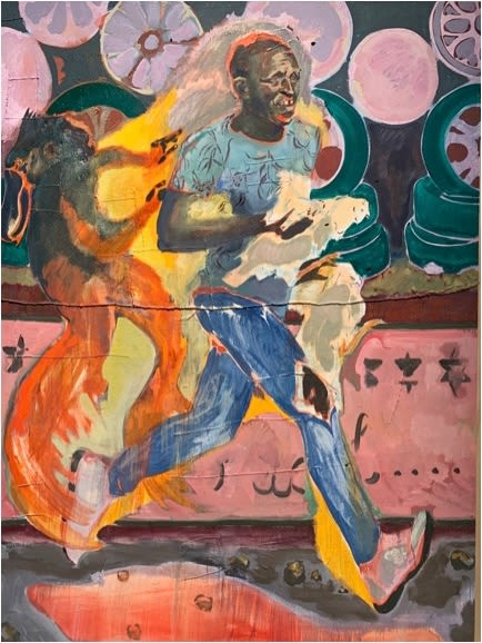 Paintings by Michael Armitage seen at MoMA (Museum Of Modern Art), New York - The Chicken Thief