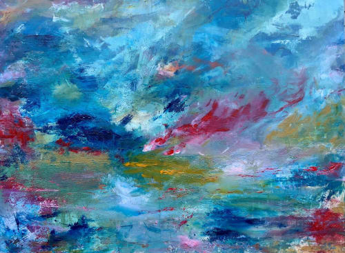 Paintings by Mireille Laroche seen at Creator's Studio, Ottawa - Riding the Wave