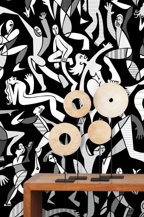 Wallpaper by MM Digital Designs Ltd. seen at Private Residence, Port Jefferson - Jubilee Wallpaper