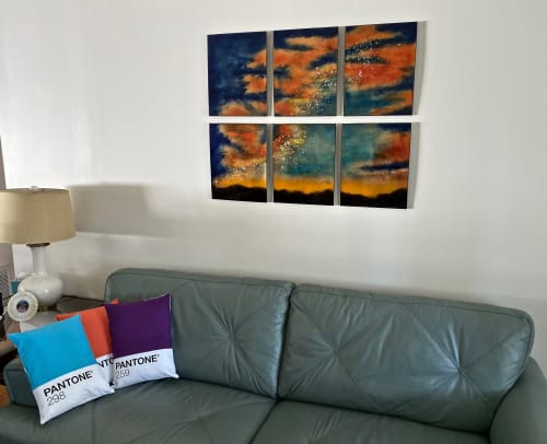 Art & Wall Decor by Cynthia Miller: finefusions.com seen at Private Residence, Minneapolis - Swan Nebula