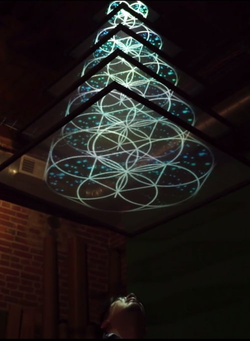 Lighting by Klip Collective seen at Philadelphia, Philadelphia - Vertex Projection Chandelier