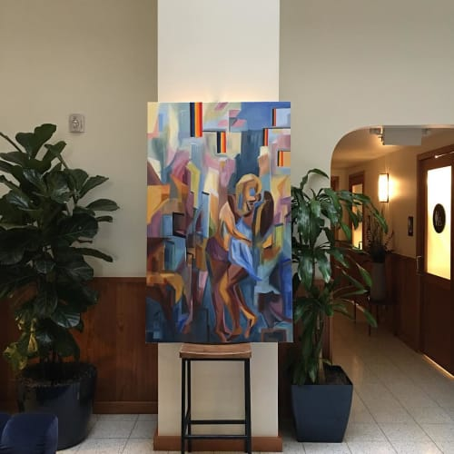 Paintings by Anna Sidana seen at Tilden Hotel, San Francisco - Embrace