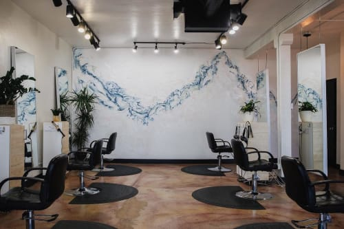 Murals by Samantha Louise Designs seen at Hair Drezzers On Fire, San Diego - Mural (Abstract)