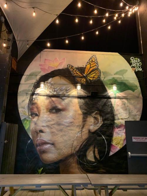 Murals by MR.BLOB seen at Dock Asian Eatery, Brooklyn - Bushwick Collective Mural