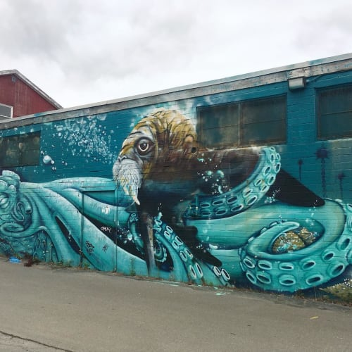 Street Murals by Princefuze seen at NSCC - Ivany Campus, Dartmouth - Epic Mural