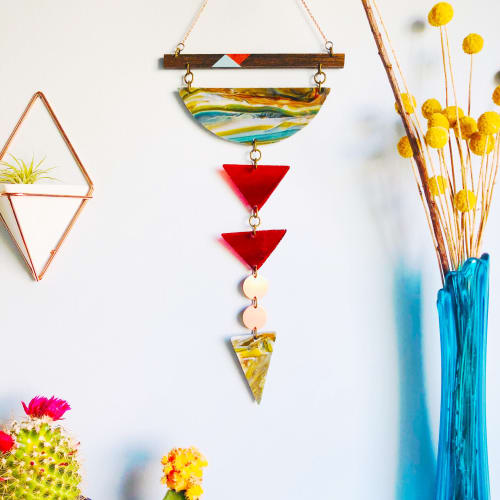 Wall Hangings by Samara Designs seen at Private Residence, Greenville - Geometric Chakra Wall Hanging