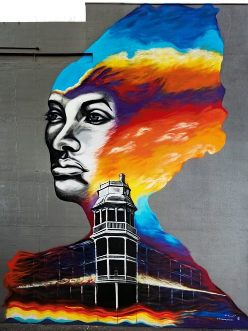 Murals by Hugo Medina seen at Phoenix, AZ, United States, Phoenix - Malinda Rising