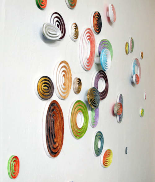 """Art & Wall Decor by Fausto Salvi Ceramic seen at Private Residence, Brussels - """"JET LAG"""""""