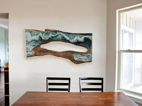 Paintings by Lindsey Millikan (Milli) seen at Private Residence, San Francisco - Ocean #12