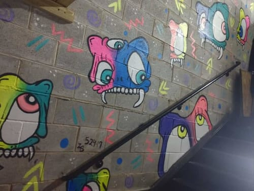 Murals by Zach Bartz seen at Bourbon on Division, Chicago - Bourbon on Division Mural