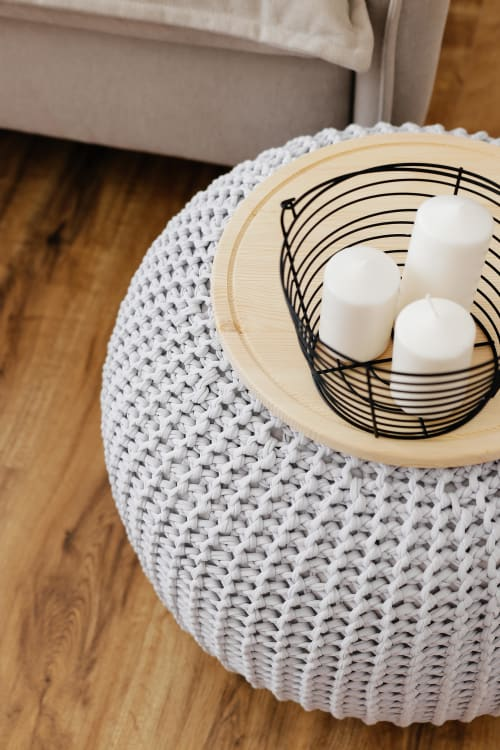 Tables by Chasha Home - Coffee Table - Pouf