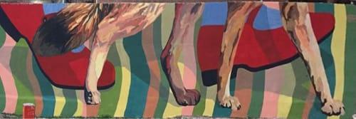 "Murals by Lala gg seen at San Javier, San Javier - ""Ando zorreando"" , walking with fox."