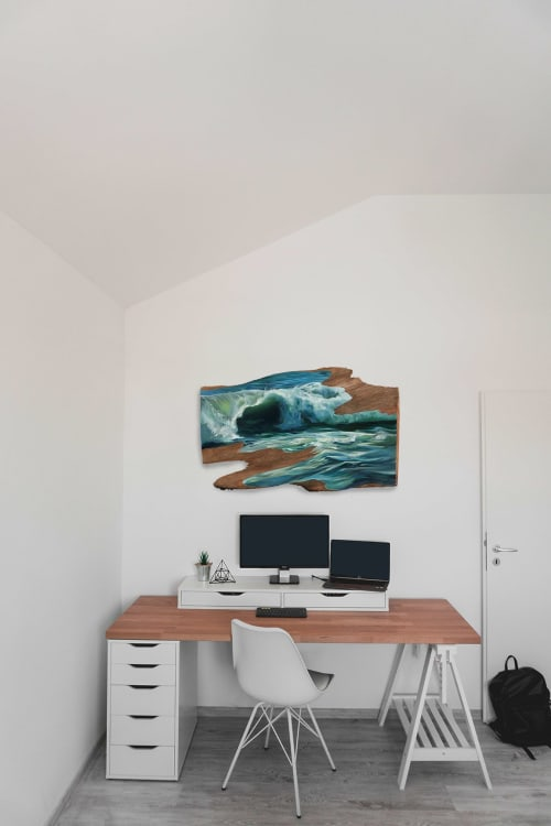 Paintings by Lindsey Millikan (Milli) seen at Private Residence, San Francisco - Ocean #2