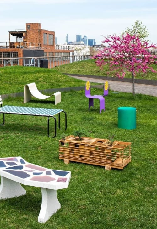 Benches & Ottomans by Plant-In City seen at Inside/Out - The Vale Park, Brooklyn - Box Cabin Bench