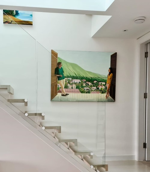 Paintings by Karen Lynn seen at Private Residence, London - The Burtons in Mexico