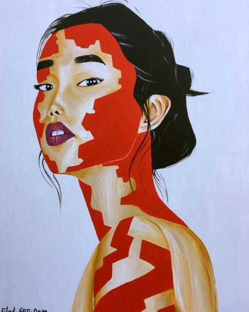 Paintings by Elad Ben-Naim seen at Private Residence - Princess of Japan