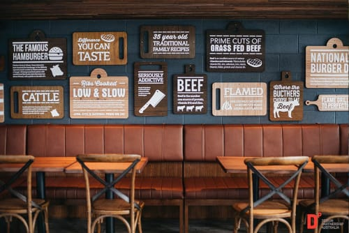 Signage by Sign Action seen at Ribs & Burgers Drummoyne, Drummoyne - Signage