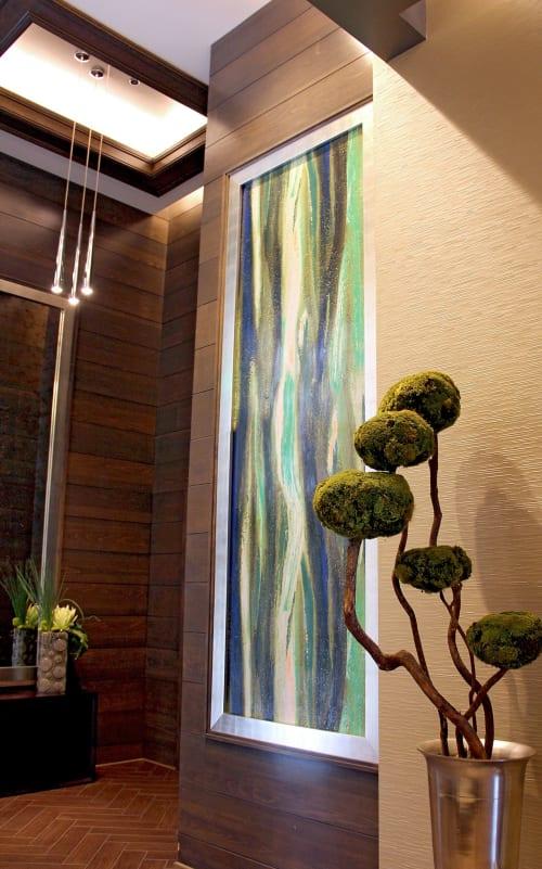 Murals by Organik Creative at Gables Tanglewood, Houston - Green Stroke Wall Mural
