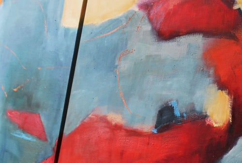 Paintings by Cecilia Arrospide at Private Residence - Lima, Peru, Lima - RED IN BLUES