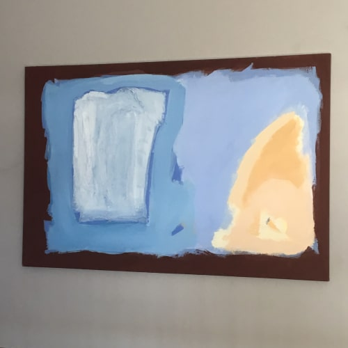 Paintings by Sara Marlowe Hall at Private Residence, Manhattan Beach - Sun And The Sea - A Conversation