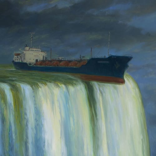 "Paintings by Michael Kerbow seen at Private Residence, San Francisco - ""Uncharted Waters"""